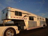 2008 Elite 4 Horse Living Quarters Trailer (A)