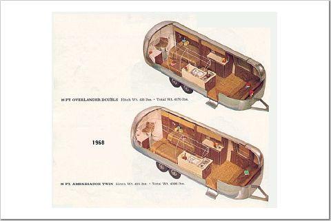 Airstream Trailer Floorplans | Land Yacht Floorplan