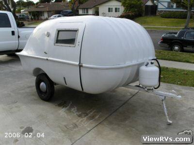 1960 Compact Tear Drop Travel Trailer